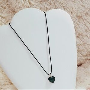 Vintage Malachite Heart Necklace